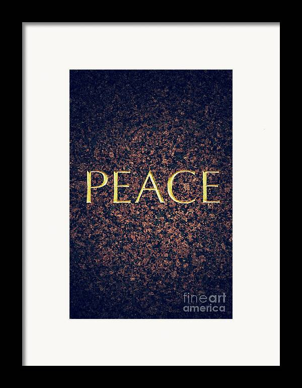 Peace Framed Print featuring the photograph Peace by Tim Gainey