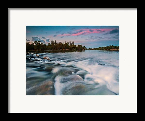 Landscapes Framed Print featuring the photograph Peaceful Evening by Davorin Mance