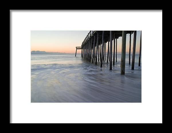 Ocean Framed Print featuring the photograph Peaceful Ocean Sunrise by Benjamin Reed