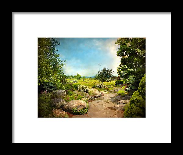 Landscape Framed Print featuring the photograph Peaceful Path by Jessica Jenney
