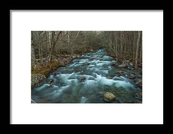Little Pigeon Framed Print featuring the photograph Peaceful River by Randy Walton