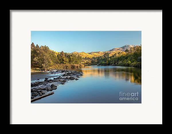 Idaho Framed Print featuring the photograph Peaceful River by Robert Bales