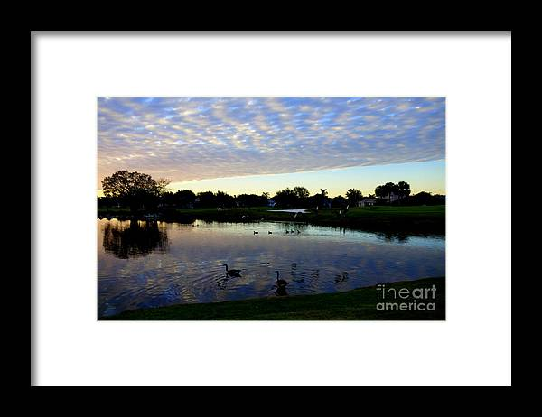 Golf Framed Print featuring the photograph Peaceful sunset by De La Rosa Concert Photography