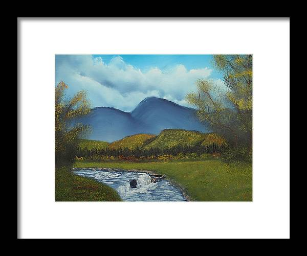 Stream Framed Print featuring the painting Peaceful Valley by Henry Parker
