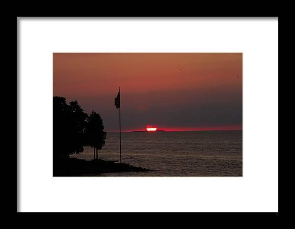 Sunset Framed Print featuring the photograph Peach Point Sunset by Haren Images- Kriss Haren