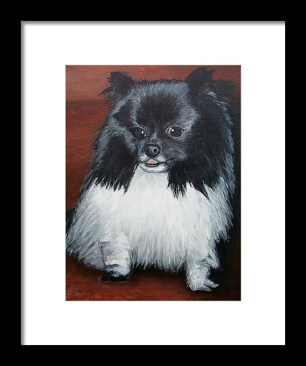 Dog Framed Print featuring the painting Peanut by Cathy McGregor