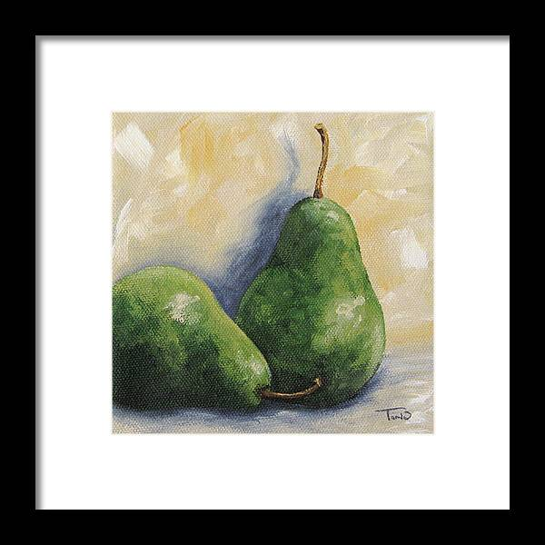 Pear Framed Print featuring the painting Pear Duet by Torrie Smiley