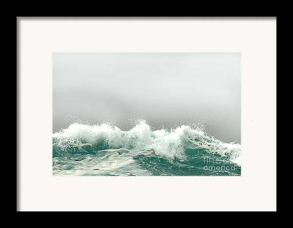 Pebble Beach Framed Print featuring the photograph Pebble Beach In The Fog by Artist and Photographer Laura Wrede