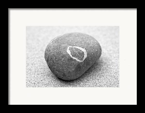 Zen Framed Print featuring the photograph Pebble by Frank Tschakert