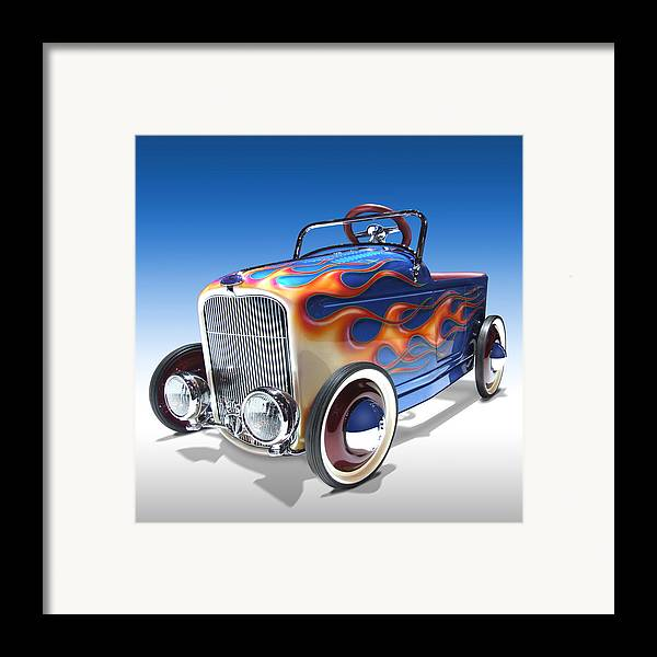 Peddle Car Framed Print featuring the photograph Peddle Car by Mike McGlothlen