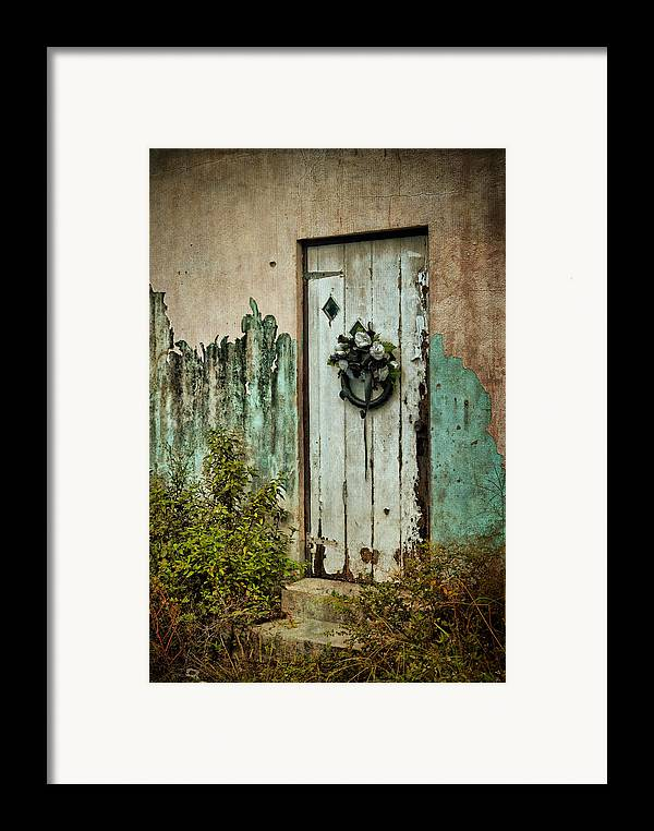 Door Framed Print featuring the photograph Peeled Paint by Kathy Jennings
