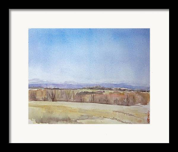 Maine Landscape Framed Print featuring the painting Peeper Season by Grace Keown