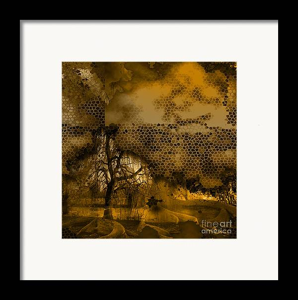 Framed Print featuring the mixed media Peer by Yanni Theodorou