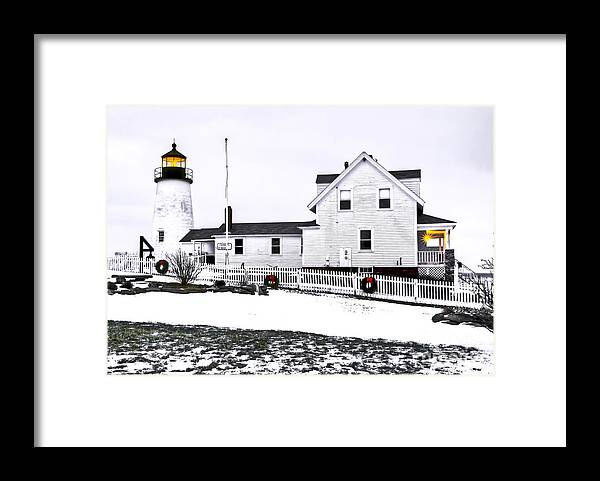 Bristol Framed Print featuring the photograph Pemaquid Lighthouse by Brenda Giasson