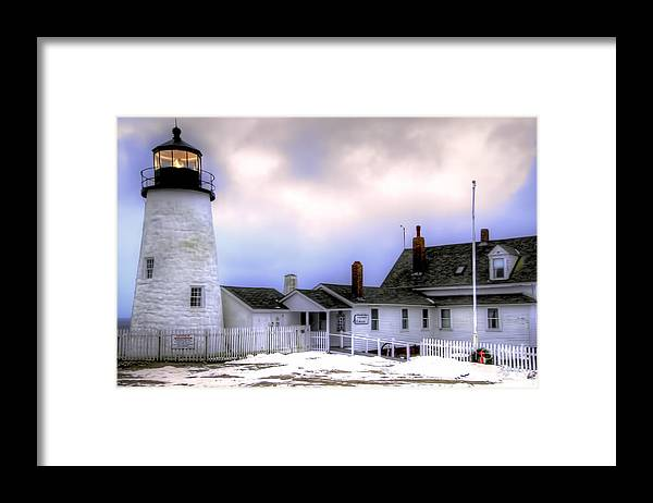 Bristol Framed Print featuring the photograph Pemaquid Point Lighthouse by Brenda Giasson
