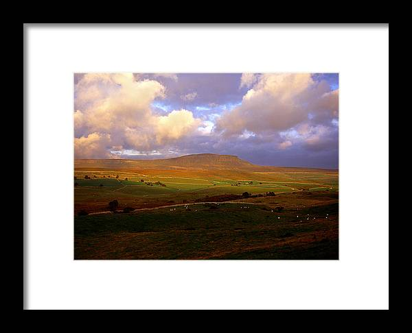 Landscape Framed Print featuring the photograph Pen-y-ghent by Robin Dengate