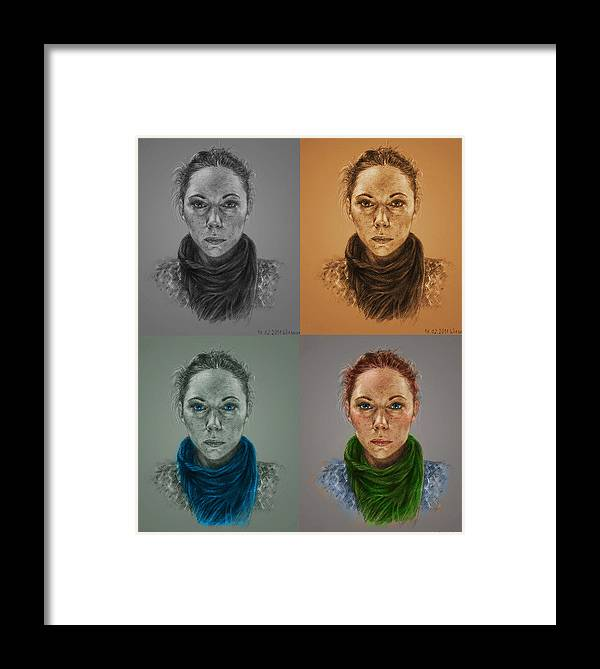 Pencil Portrait Framed Print featuring the drawing Pencil Portrait by Anna Wieszcza