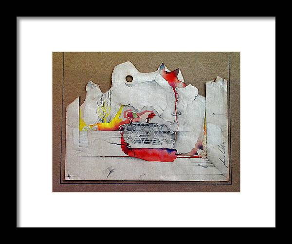 Pencil Rubbing Framed Print featuring the mixed media Pencil Rubbing B 1984 by Glenn Bautista