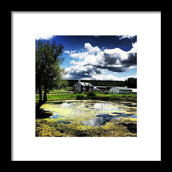 Clouds Framed Print featuring the photograph Pennsylvania Countryside by Jennifer Albers