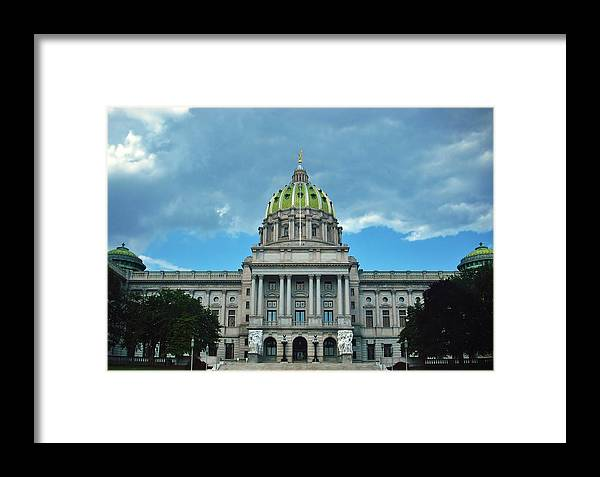 Pennsylvania Framed Print featuring the photograph Pennsylvania State Capitol by Ed Sweeney