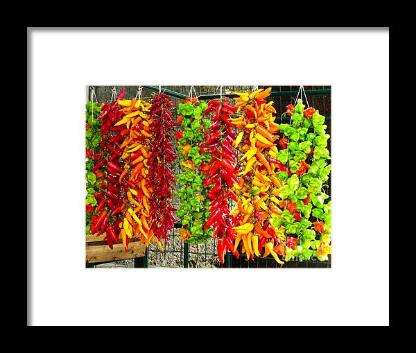 Mike Ste. Marie Framed Print featuring the photograph Peppers For Sale by Mike Ste Marie