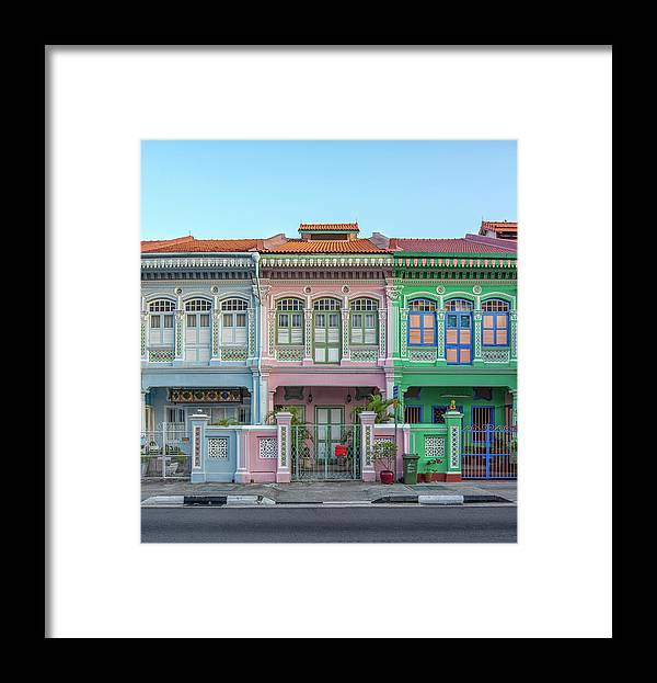 Tranquility Framed Print featuring the photograph Peranakan Architecture by Edward Tian
