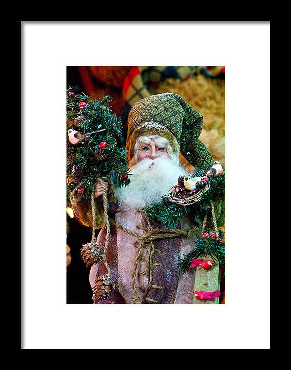 Christmas Framed Print featuring the photograph Pere Noel by Don Durante Jr