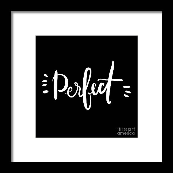 Symbol Framed Print featuring the digital art Perfect. Hand Drawn Tee Graphic by Veronika M