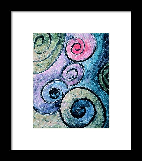 Abstract Framed Print featuring the painting Perfect by Margie Byrne
