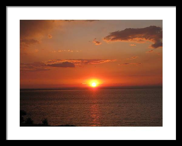 Perfect Sunset Over Lake Ontario by Elisabeth Ann