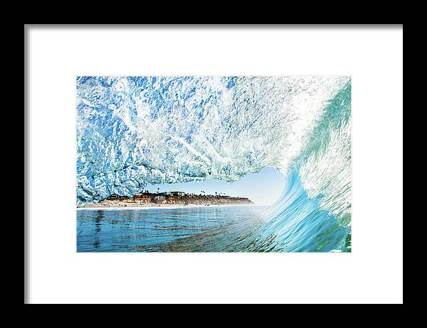 Scenics Framed Print featuring the photograph Perfect Wave by Ianmcdonnell