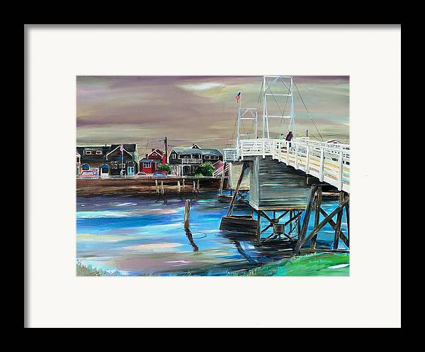 Perkin's Cove Framed Print featuring the painting Perkins Cove Maine by Scott Nelson
