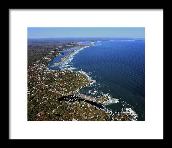 America Framed Print featuring the photograph Perkins Cove, Ogunquit Beach, Ogunquit by Dave Cleaveland