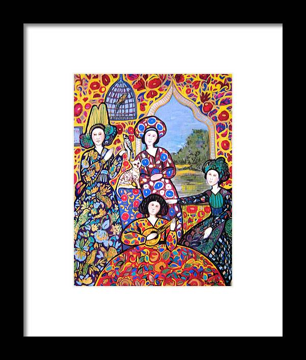 Persian Framed Print featuring the painting Persian Afternoon by Marilene Sawaf