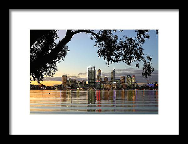 Perth Framed Print featuring the photograph Perth 2am-110873 by Andrew McInnes