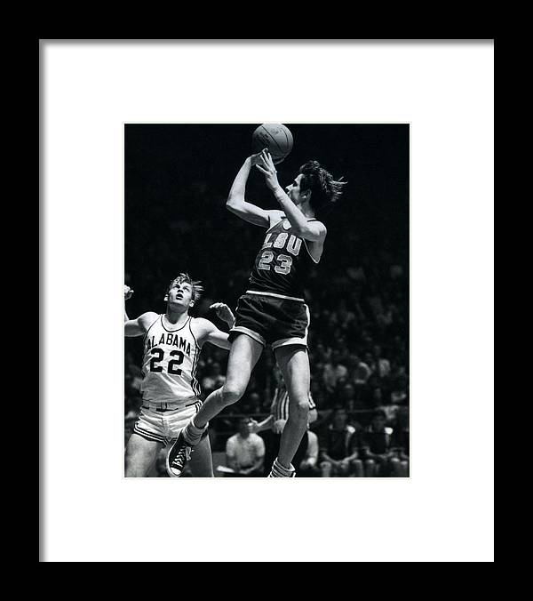 Classic Framed Print featuring the photograph Pete Maravich Fade Away by Retro Images Archive