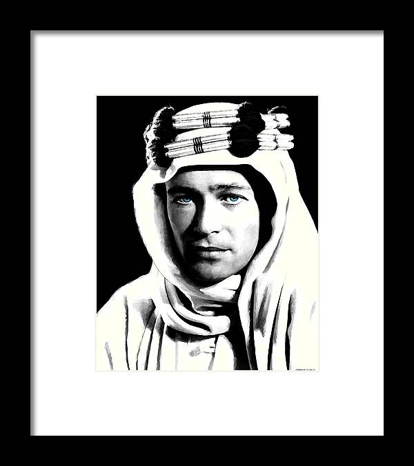 Peter O'toole Framed Print featuring the digital art Peter O'Toole Portrait by Gabriel T Toro