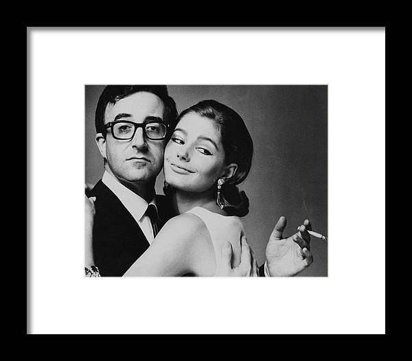 Actor Framed Print featuring the photograph Peter Sellers Posing With A Model by Jereme Ducrot