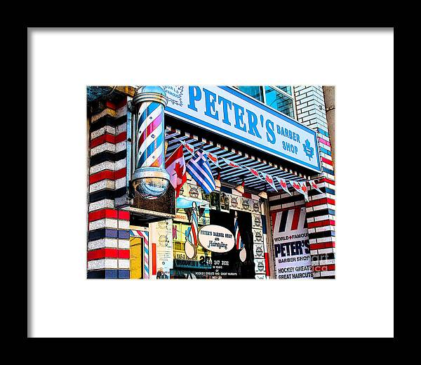 1960's Framed Print featuring the photograph Peter's Barber Shop Circa 1961 by Nina Silver