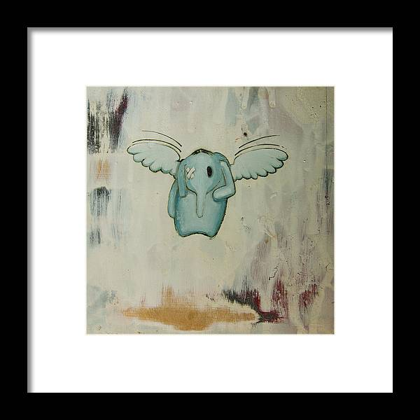 Framed Print featuring the painting Pete's Angel by Konrad Geel