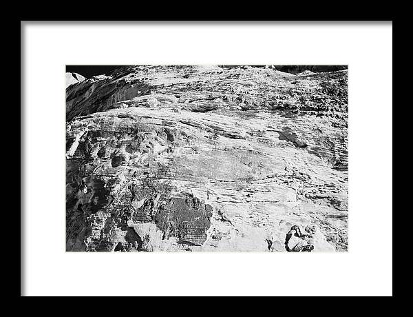 Valley Framed Print featuring the photograph Petroglyphs On Sandstone Rock Cliff Face On Mouses Tank Trail Valley Of Fire State Park Nevada Usa by Joe Fox
