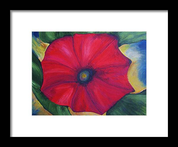 Petunia Framed Print featuring the painting Petty Petunia by Deborah Schuster