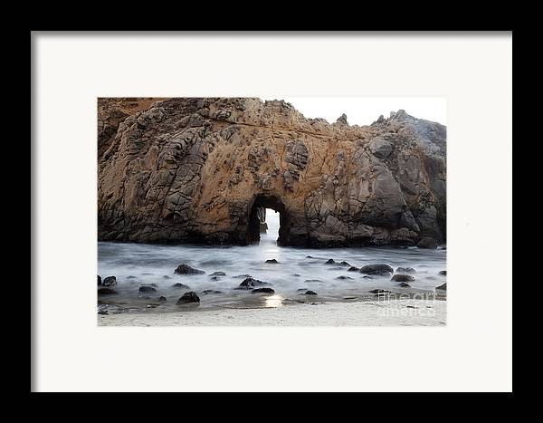 Arch Framed Print featuring the photograph Pfeiffer Beach Arch by Jenna Szerlag