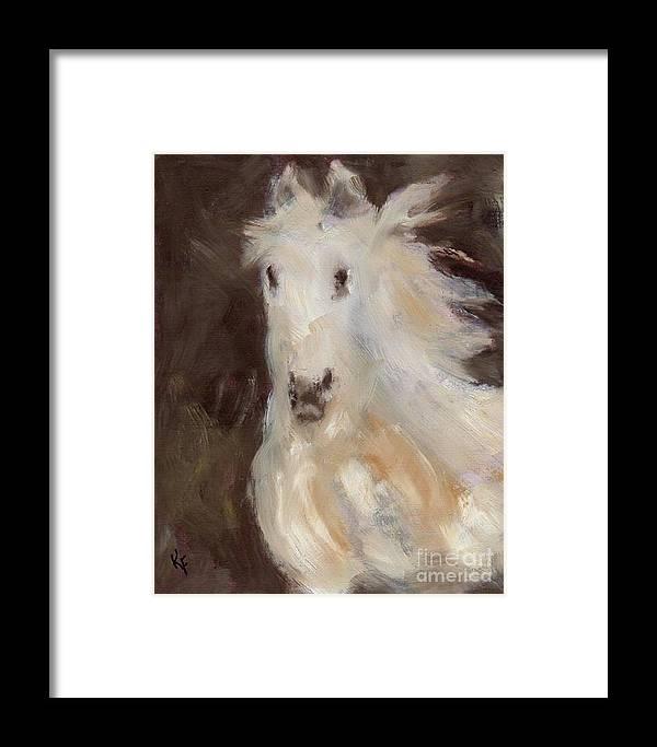 Horse Framed Print featuring the painting Phantom by Kathleen Farmer