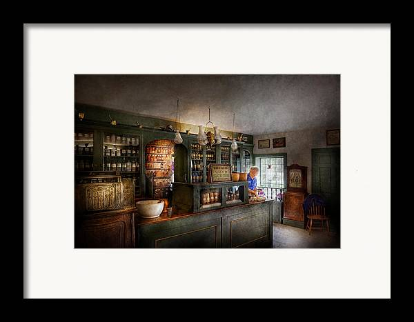 Doctor Framed Print featuring the photograph Pharmacy - Morning Preparations by Mike Savad