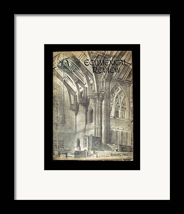 Ecumenical Framed Print featuring the drawing Phil Ecumenical Review 1965 by Glenn Bautista