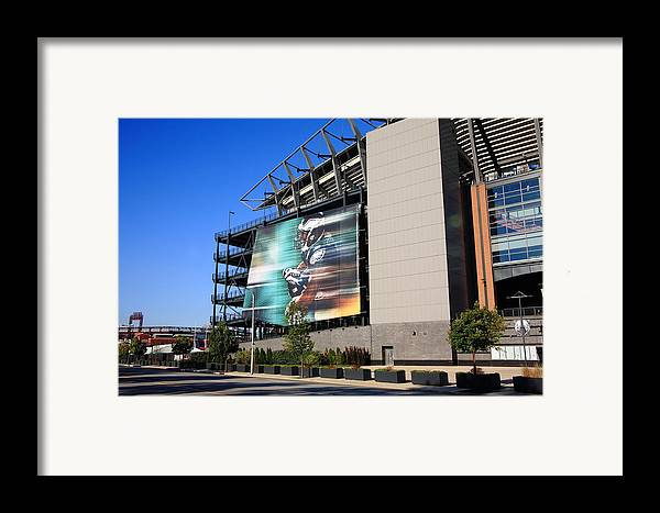 America Framed Print featuring the photograph Philadelphia Eagles - Lincoln Financial Field by Frank Romeo
