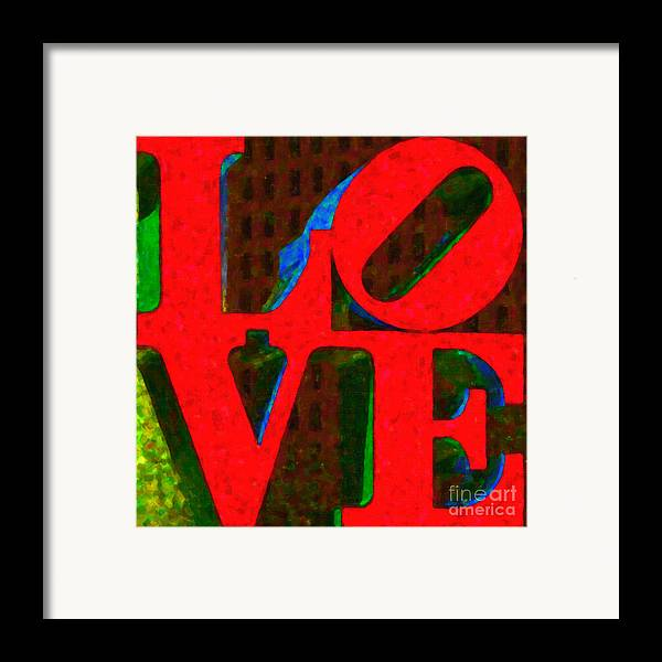 Love Framed Print featuring the photograph Philadelphia Love - Painterly V1 by Wingsdomain Art and Photography