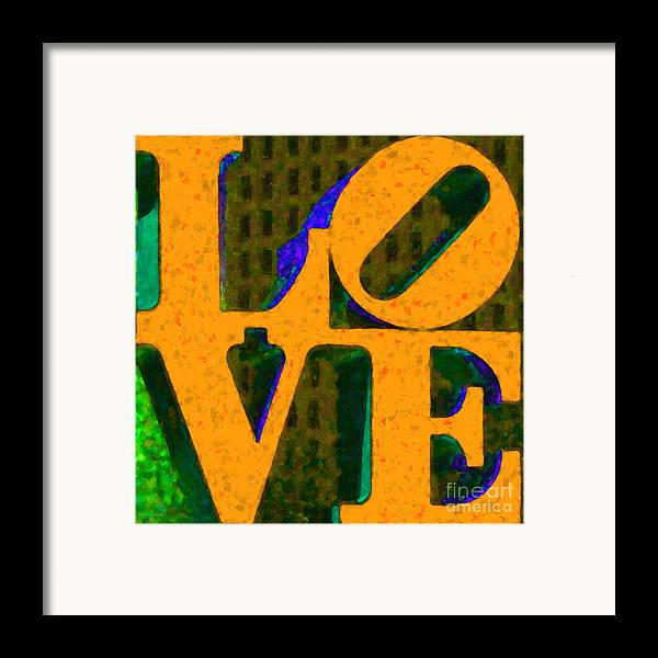 Love Framed Print featuring the photograph Philadelphia Love - Painterly V4 by Wingsdomain Art and Photography