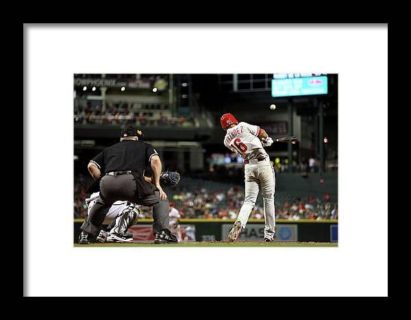 American League Baseball Framed Print featuring the photograph Philadelphia Phillies V Arizona by Chris Coduto
